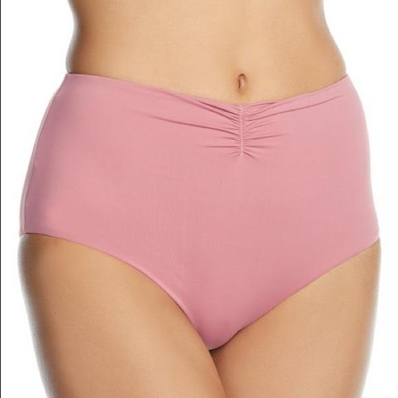 Radio Fiji Other - Mauve Pink Ruched High Waist Bikini Bottom